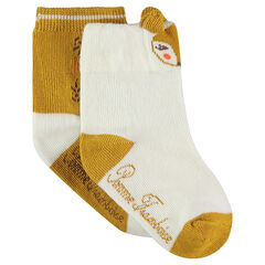 Σετ 2 ζευγάρια ασορτί κάλτσες με ζακάρ μοτίβο ζωάκι