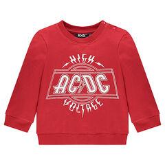 Φούτερ από φανέλα με τυπωμένο λογότυπο ACDC®