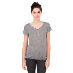 Κοντομάνικη μπλούζα εγκυμοσύνης με εμπριμέ μοτίβο