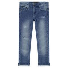 Παντελόνι από φανέλα με used όψη