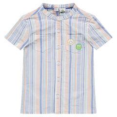 Βαμβακερό πουκάμισο με ρίγες και σήματα ©Smiley