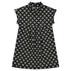 Φανελένιο φόρεμα με έθνικ μοτίβο