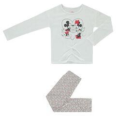 Πιτζάμα ζέρσεϊ με στάμπα Mickey και Minnie της ©Disney