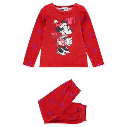 Pyjama long en velours avec print Disney Minnie