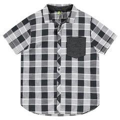 Παιδικά - Κοντομάνικο καρό πουκάμισο με τσέπη