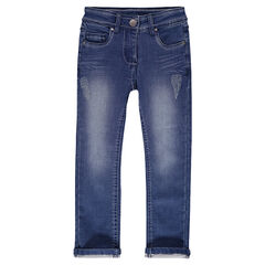 Παντελόνι από φανέλα με όψη ντένιμ