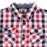 Μακρυμάνικο πουκάμισο με καρό σε αντίθεση και τσέπες