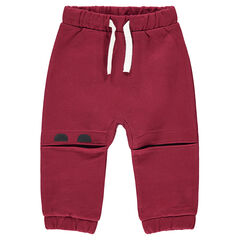 Παντελόνι φόρμας από φανέλα με άνοιγμα στα γόνατα