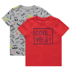 e57653415616 Σετ 2 κοντομάνικες μπλούζες