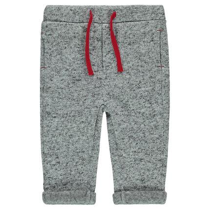 Φλις μελανζέ παντελόνι με κορδόνια σε αντίθεση