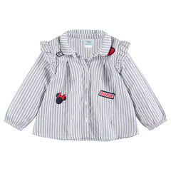 Μακρυμάνικο βαμβακερό πουκάμισο με το σήμα της Minnie της ©Disney