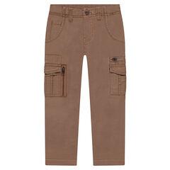 Παντελόνι τουίλ με νηματοβαφή, τσέπες και φερμουάρ