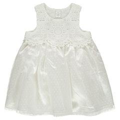 Αμάνικο φόρεμα από τούλι και πλέξη στο βελονάκι