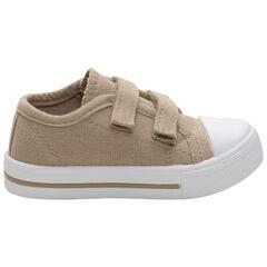 Μπεζ αθλητικά παπούτσια με βέλκρο, νούμερα 24 έως 35
