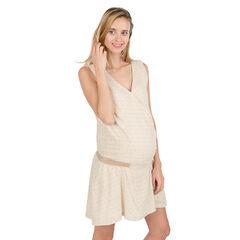 Αμάνικο φόρεμα εγκυμοσύνης με λάστιχο στη μέση