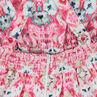 Παιδικά - Φλοράλ φόρεμα με κρουαζέ πλάτη