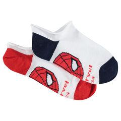 Σετ 2 ζευγάρια κοντές κάλτσες με τον Spiderman της ©Marvel