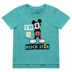 79d6f02d78e Κοντομάνικη ζέρσεϊ μπλούζα με στάμπα Μίκυ της ©Disney