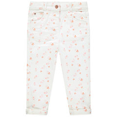 Pantalon effet crinkle imprimé all-over