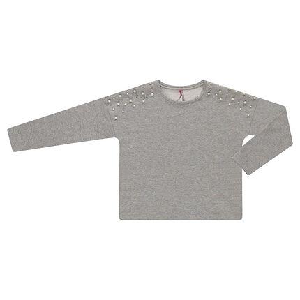 6c4c57f1da9 Παιδικά - Φανελένιο λαμπερό φούτερ με διακοσμητικές πέρλες ...