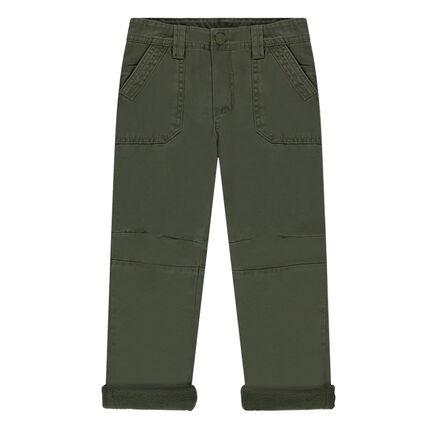 Βελουτέ υφασμάτινο παντελόνι με επένδυση φλις