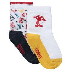 Σετ με 2 ζευγάρια ασορτί κάλτσες Mickey της Disney