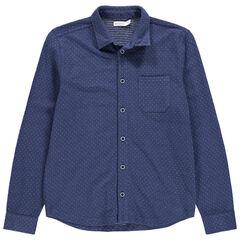 Παιδικά - Μακρυμάνικο πουκάμισο πικέ με τσέπη