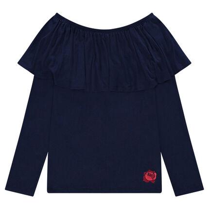 Παιδικά - Μπλούζα με βολάν και ακάλυπτους ώμους