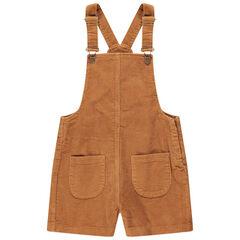 Παιδικά - Σαλοπέτα από κοτλέ βελούδο με πλακέ τσέπες