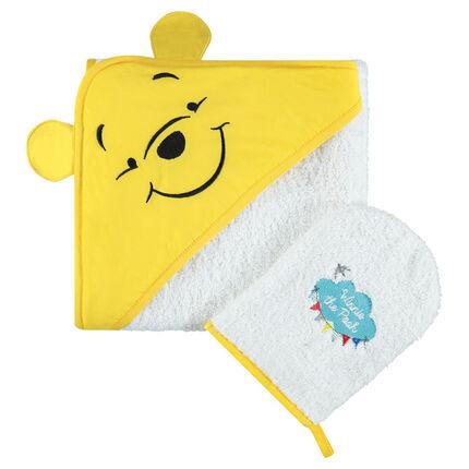 Σετ μπάνιου πετσετέ με κέντημα τον Γουίνι το αρκουδάκι της Disney