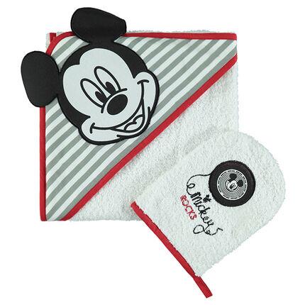 Σετ μπάνιου πετσετέ με κέντημα τον Mickey της Disney
