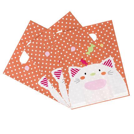 Σετ με 10 σακουλάκια γενεθλίων για καραμέλες με σχέδιο γάτα
