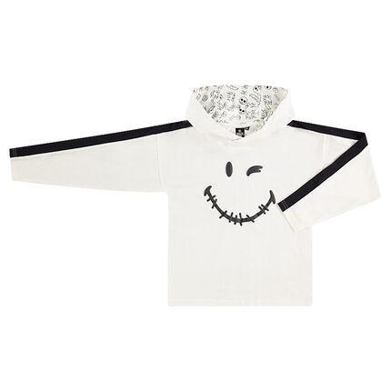 Παιδικά - Μακρυμάνικη μπλούζα με κουκούλα και στάμπα ©Smiley