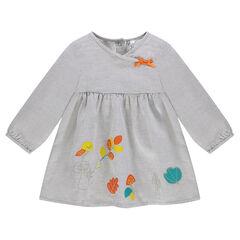 Φόρεμα βαμβακερό με χρωματιστά μοτίβα