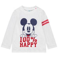 T-shirt manches longues en coton bio print Mickey Disney et bandes