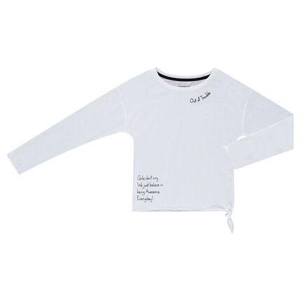 Παιδικά - Μακρυμάνικη μπλούζα από ζέρσεϊ με τυπωμένα μηνύματα