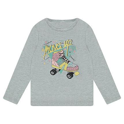 Μακρυμάνικη μπλούζα από ζέρσεϊ με τυπωμένο πατίνι
