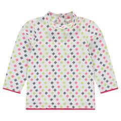 Μακρυμάνικη μπλούζα με μοτίβο σε όλη την επιφάνεια
