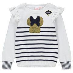 Πλεκτό πουλόβερ σε στιλ μαρινιέρας με τη Minnie από «μαγικές» πούλιες της ©Disney