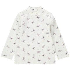 Μπλούζα με λαιμό ζιβάγκο και εμπριμέ μοτίβο φιόγκους της Μίνι της Disney