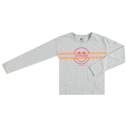 Παιδικά - Μακρυμάνικη μπλούζα από ζέρσεϊ με στάμπα Smiley