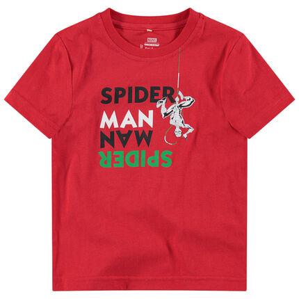 Κοντομάνικη μπλούζα από ζέρσεϊ με μήνυμα και στάμπα Spiderman της ©Marvel