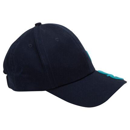 Καπέλο από τουίλ με ανάγλυφα γράμματα