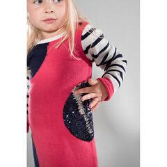 Μακρυμάνικο πλεκτό φόρεμα με «μαγικές» πούλιες