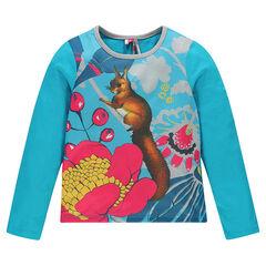 Tee-shirt manches longues print sublimation écureuil