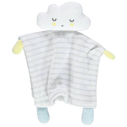 Μαλακό βελουτέ παιχνιδάκι σε σχήμα σύννεφου με ρίγες