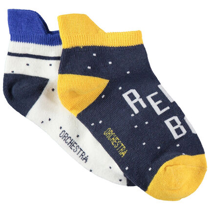 Σετ 2 ζευγάρια ασορτί κάλτσες με ενίσχυση στο πίσω μέρος