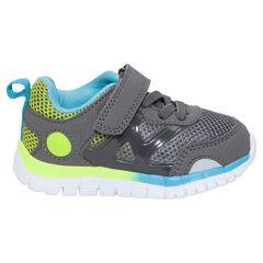 Σπορ αθλητικά παπούτσια με ελαστικά κορδόνια και αυτοκόλλητο βέλκρο