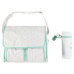 Εμπριμέ τσάντα-αλλαξιέρα με ισοθερμική θήκη