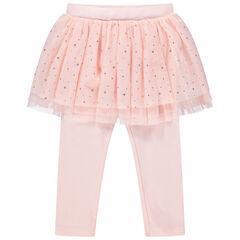 Παντελόνι-κολάν με ενσωματωμένη φούστα από τούλι